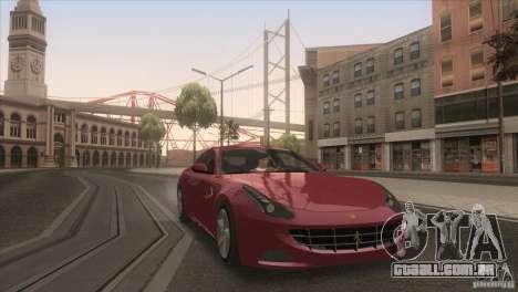 Ferrari FF 2011 V1.0 para GTA San Andreas vista superior