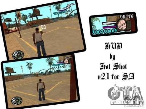 HUD by Hot Shot v2.1 para GTA San Andreas