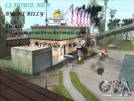 CJ house cleo para GTA San Andreas segunda tela
