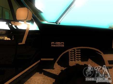 Ford F150 Off-Road para GTA San Andreas vista traseira
