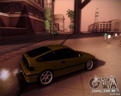 Honda Civic CRX JDM para GTA San Andreas interior