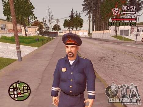 Policiais para GTA San Andreas por diante tela
