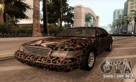Ford Crown Victoria 2003 para vista lateral GTA San Andreas