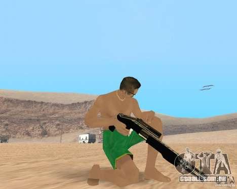Gold weapons pack para GTA San Andreas terceira tela