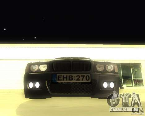 BMW 740i Update para GTA San Andreas esquerda vista