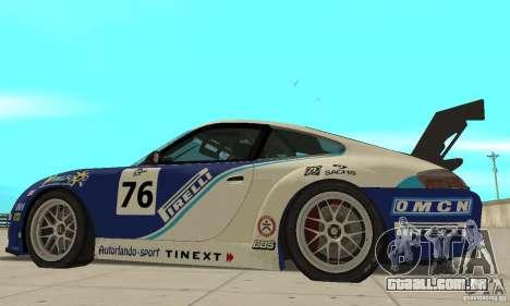 Porsche 911 Le GRID para GTA San Andreas traseira esquerda vista