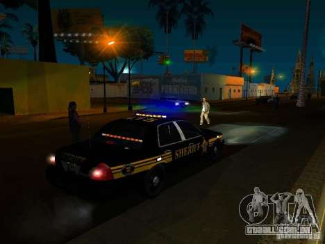 Ford Crown Victoria Erie County Sheriffs Office para GTA San Andreas vista superior