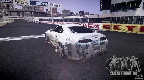 Toyota Supra ProStreet Style para GTA 4 traseira esquerda vista