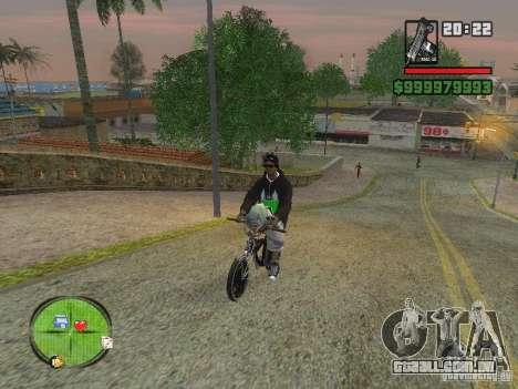 NEW Ryder para GTA San Andreas por diante tela