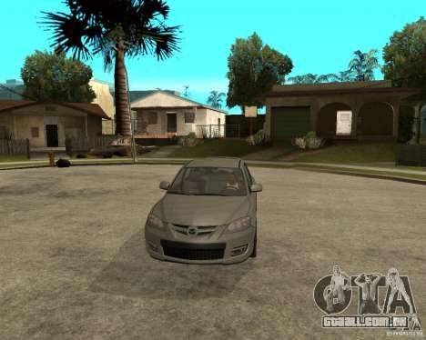 Mazda 3 Sport 2003 para GTA San Andreas vista traseira