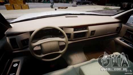 Buick Roadmaster Sedan 1996 v1.0 para GTA 4 vista de volta