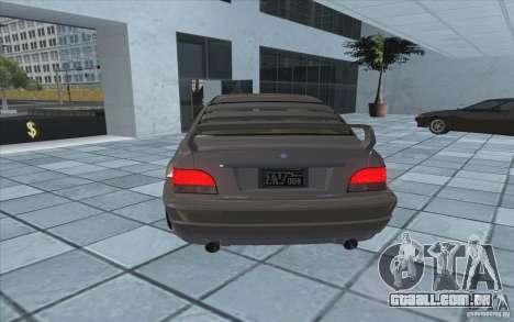 Sentinela do GTA 4 para GTA San Andreas traseira esquerda vista