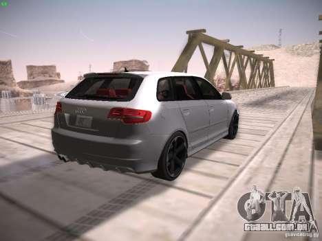 Audi RS3 2011 para GTA San Andreas vista traseira