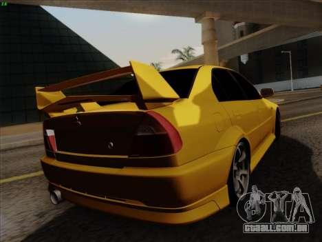 Mitsubishi Lancer Evolution VI para GTA San Andreas vista interior