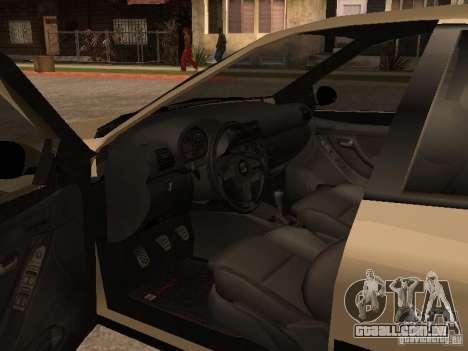 Seat Toledo 1.9 1999 para GTA San Andreas vista interior