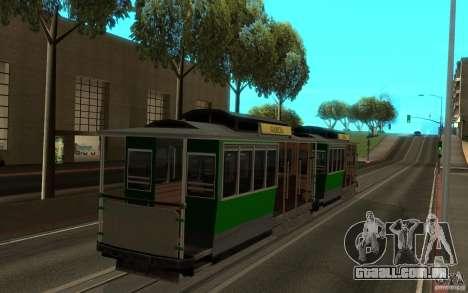 New tram mod para GTA San Andreas esquerda vista