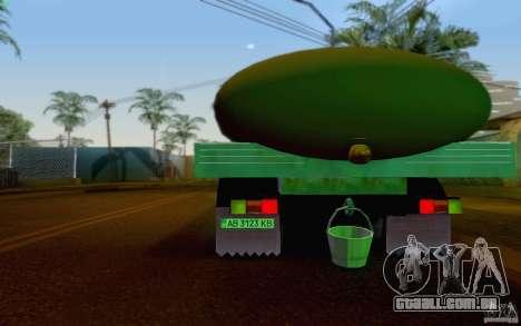 Tanque de leite GAZ 3309 para GTA San Andreas vista direita