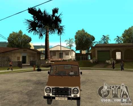 LuAZ-13021-04 para GTA San Andreas vista traseira