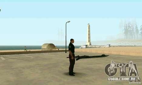 Espada de Nero no Devil May Cry 4 para GTA San Andreas segunda tela