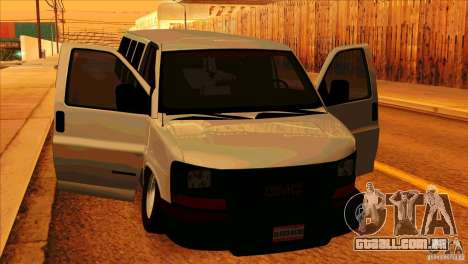 GMC Savanna 2500 para GTA San Andreas vista interior