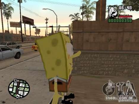 Sponge Bob para GTA San Andreas segunda tela