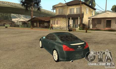 Infiniti G37 Coupe Sport para GTA San Andreas vista direita