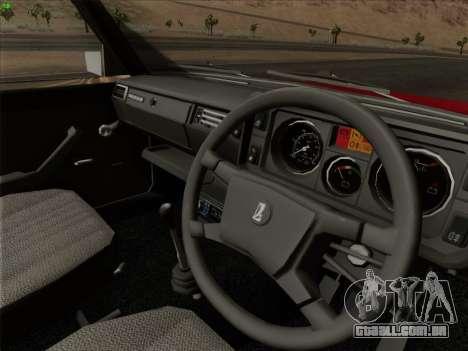 2105 Lada RIVA (exportação) 2.0 para as rodas de GTA San Andreas