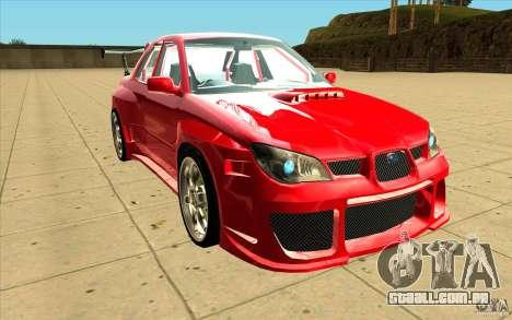 Subaru Impreza STI para GTA San Andreas vista traseira