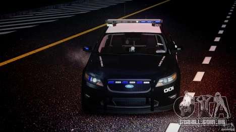 Ford Taurus Police Interceptor 2011 [ELS] para GTA 4 vista superior