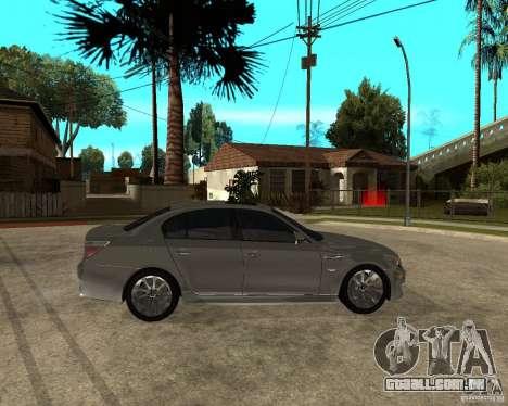BMW M5 e60 2009 para GTA San Andreas vista direita