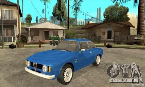 Alfa Romeo Giulia GTA para GTA San Andreas