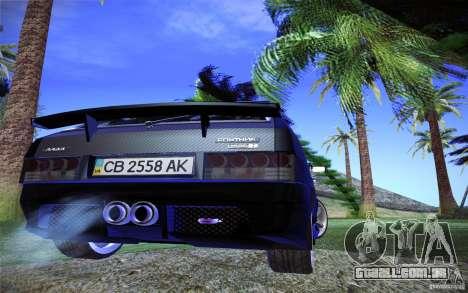 VAZ 2109 carbono para GTA San Andreas vista traseira