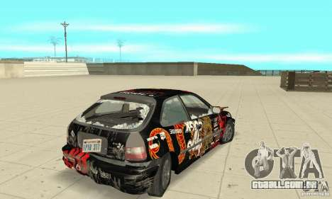 Honda-Superpromotion para GTA San Andreas vista superior