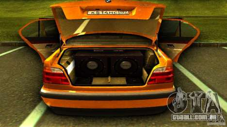 BMW 730i Taxi para GTA San Andreas vista traseira