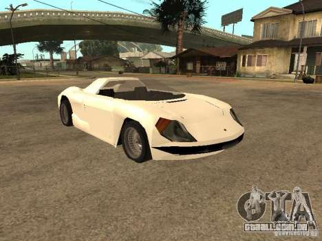 Cup Car para GTA San Andreas traseira esquerda vista