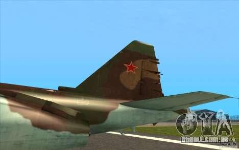 O Su-25 para GTA San Andreas vista interior