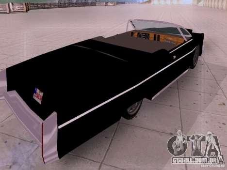 Cadillac Deville 1974 para GTA San Andreas traseira esquerda vista