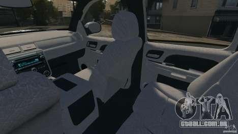 Chevrolet Avalanche Stock [Beta] para GTA 4 vista interior