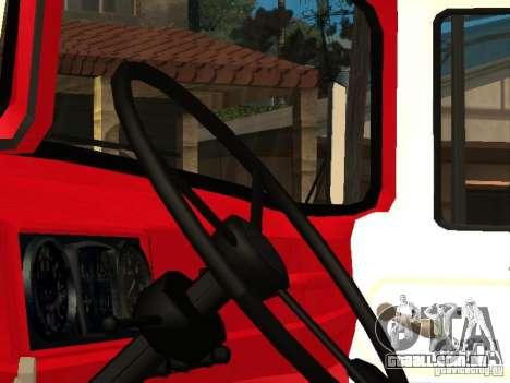 ZIL-131 fogo para GTA San Andreas traseira esquerda vista