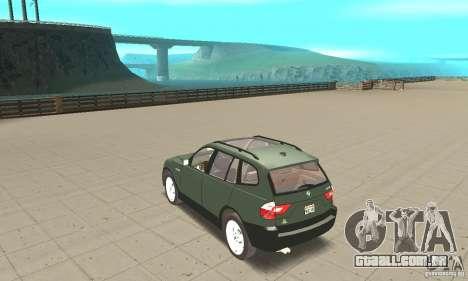 BMW X3 2.5i 2003 para GTA San Andreas traseira esquerda vista