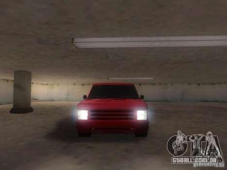 New Huntley para GTA San Andreas vista traseira