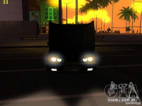 BMW E34 Alpina B10 Bi-Turbo para GTA San Andreas vista interior