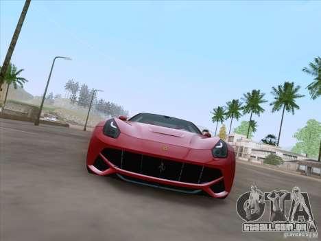 Ferrari F12 Berlinetta para GTA San Andreas traseira esquerda vista