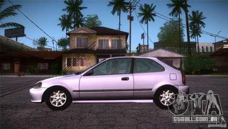 Honda Civic Tuneable para GTA San Andreas esquerda vista
