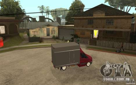 Volkswagen Crafter Case Closed para GTA San Andreas vista direita