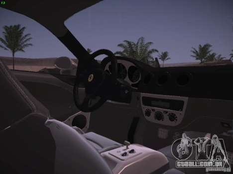Ferrari 360 Modena para GTA San Andreas interior