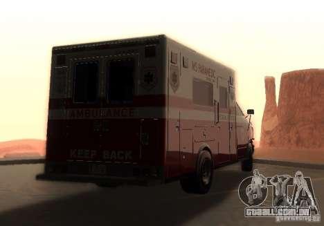 Ambulância de GTA 4 para GTA San Andreas esquerda vista