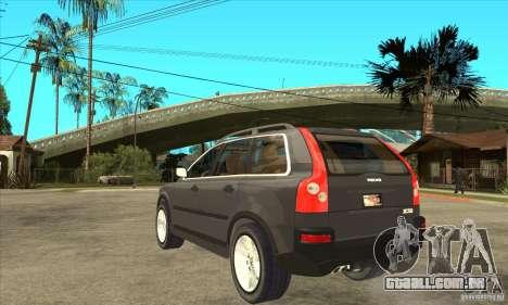 Volvo XC90 Sport para GTA San Andreas traseira esquerda vista