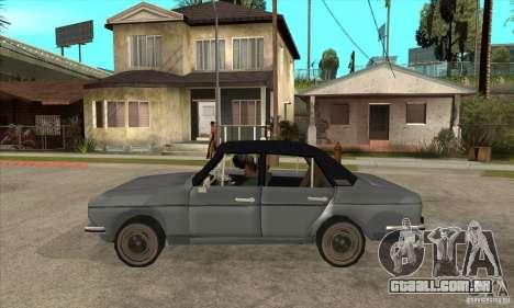 Anadol A1 SL 1975 para GTA San Andreas esquerda vista