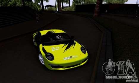 Porsche 911 Carrera S para GTA San Andreas vista interior